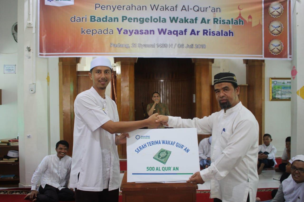 Ar Risalah Bagikan 500 Mushaf untuk Penghafal Al Qur'an.