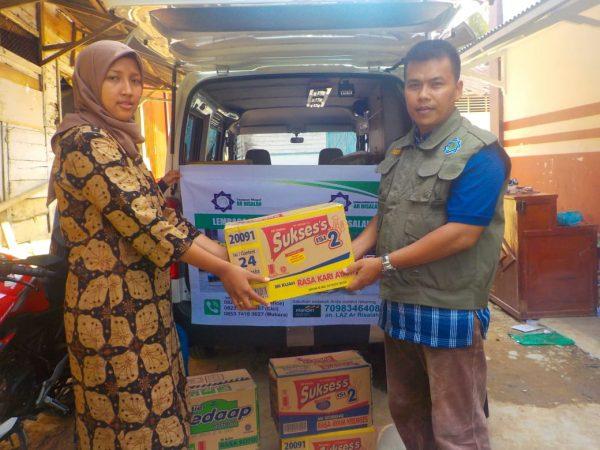 LDS Ar Risalah Salurkan Bantuan untuk Masyarakat Kinari