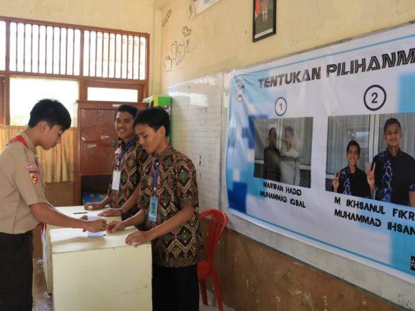 Pemilu Siswa Ar Risalah, Ajarkan Santri Berdemokrasi