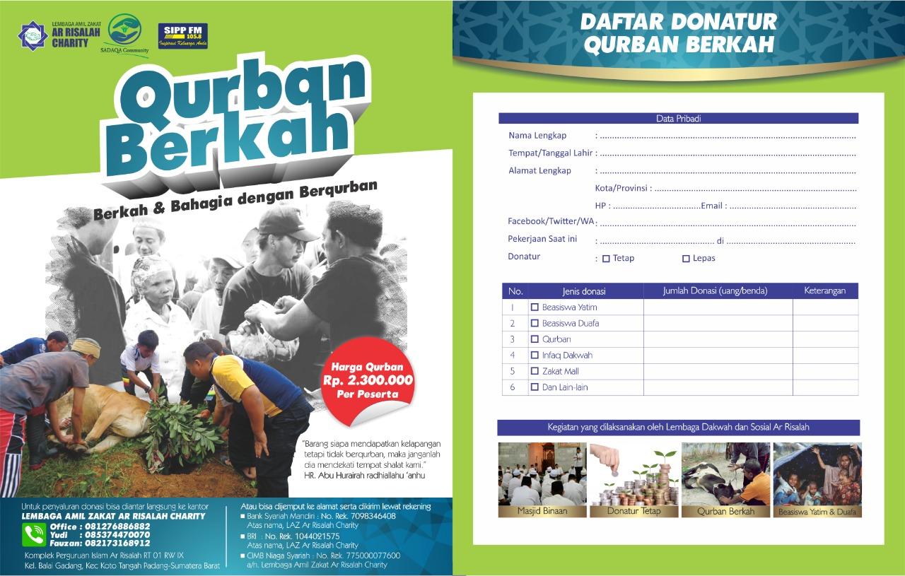"""LAZ Ar Risalah Sumbar Charity Gelar Program """"Qurban Berkah"""""""