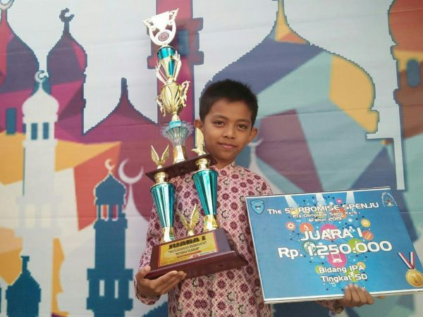 Siswa SD Qur'an Ar Risalah Juara Pra Olimpiade Sains IPA