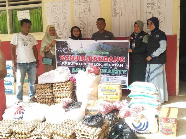 Risalah Charity Salurkan Bantuan Korban Banjir Bandang Solok Selatan