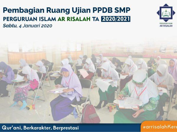 Info Pembagian Ruang Ujian PPDB SMP Perguruan Islam Ar Risalah 2020/2021