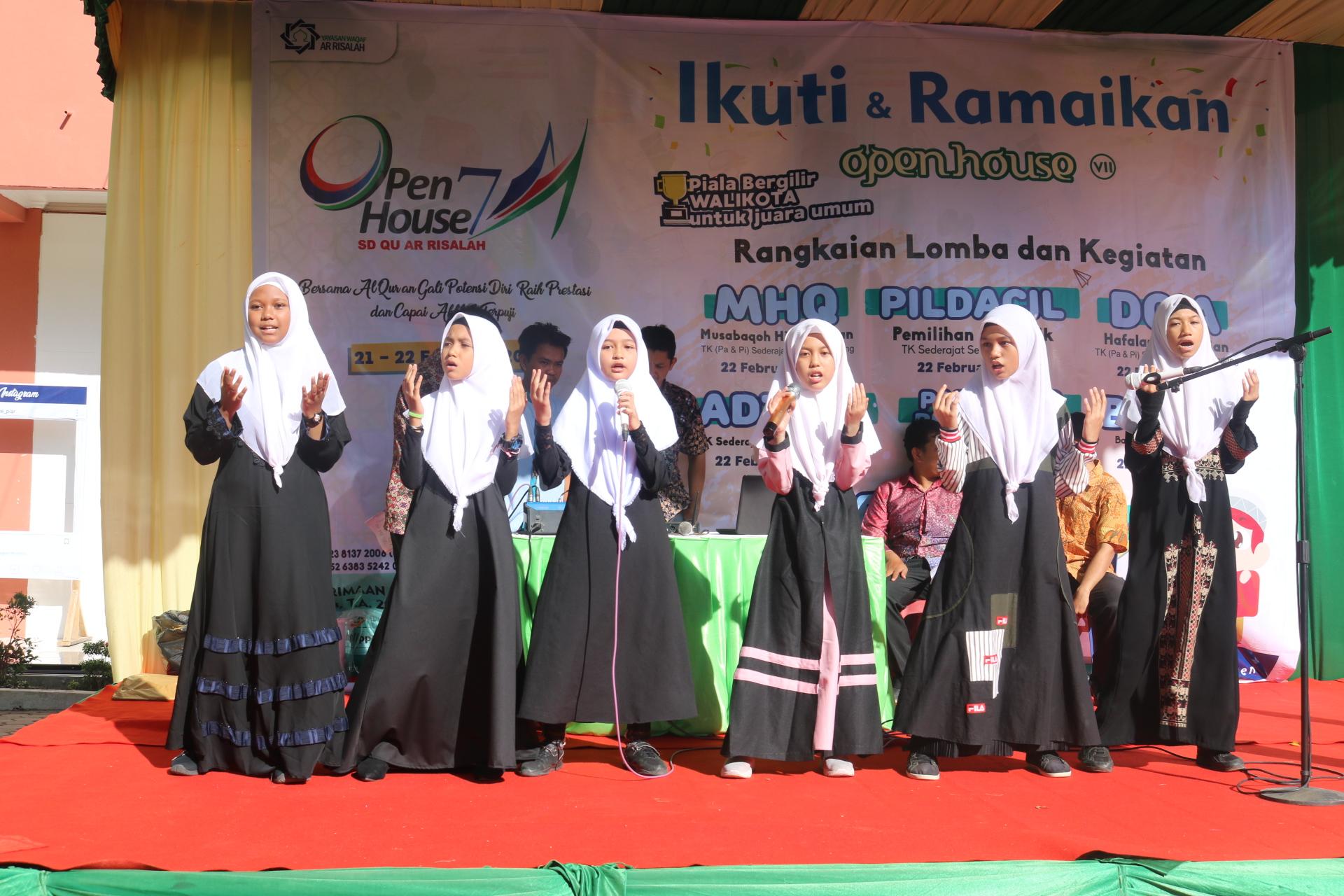 Open House ke-7 SD Qu Ar Risalah Digelar
