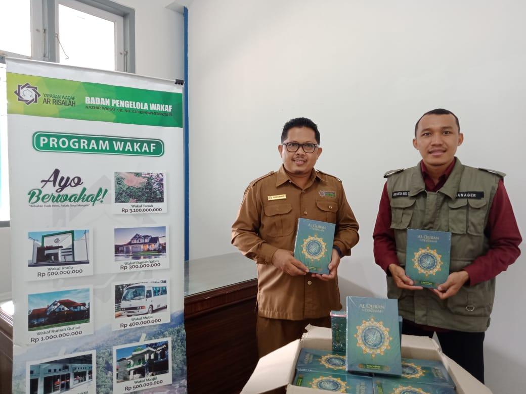BPW Ar Risalah Terima Wakaf 1000 Al Qur'an Dari Yayasan Mawaddah Indonesia