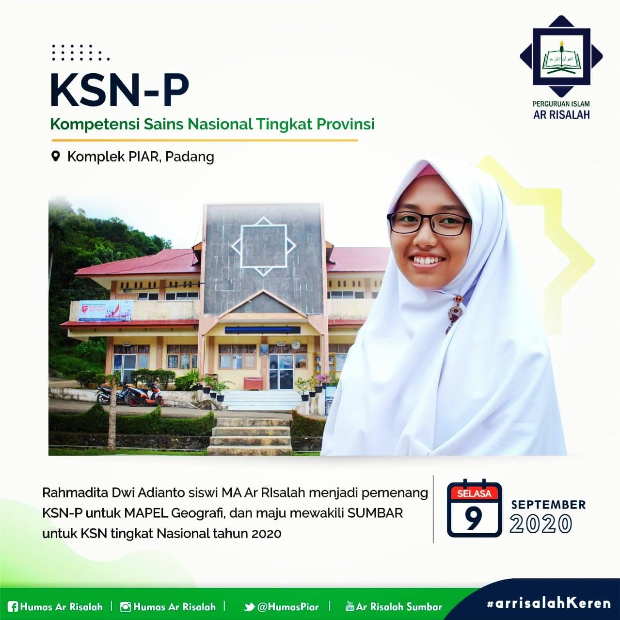 Siswa Ar Risalah Melaju ke KSN 2020 Pangkal Pinang