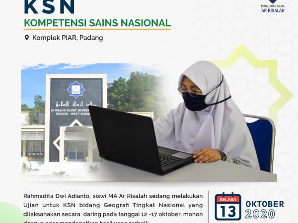 Rahmadita Ikuti Kompetisi Sains Nasional (KSN)