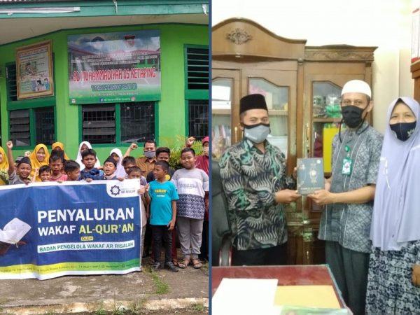 BPW Ar Risalah Salurkan Wakaf Al Qur'an Ke SD Muhammadiyah 05 Ketaping