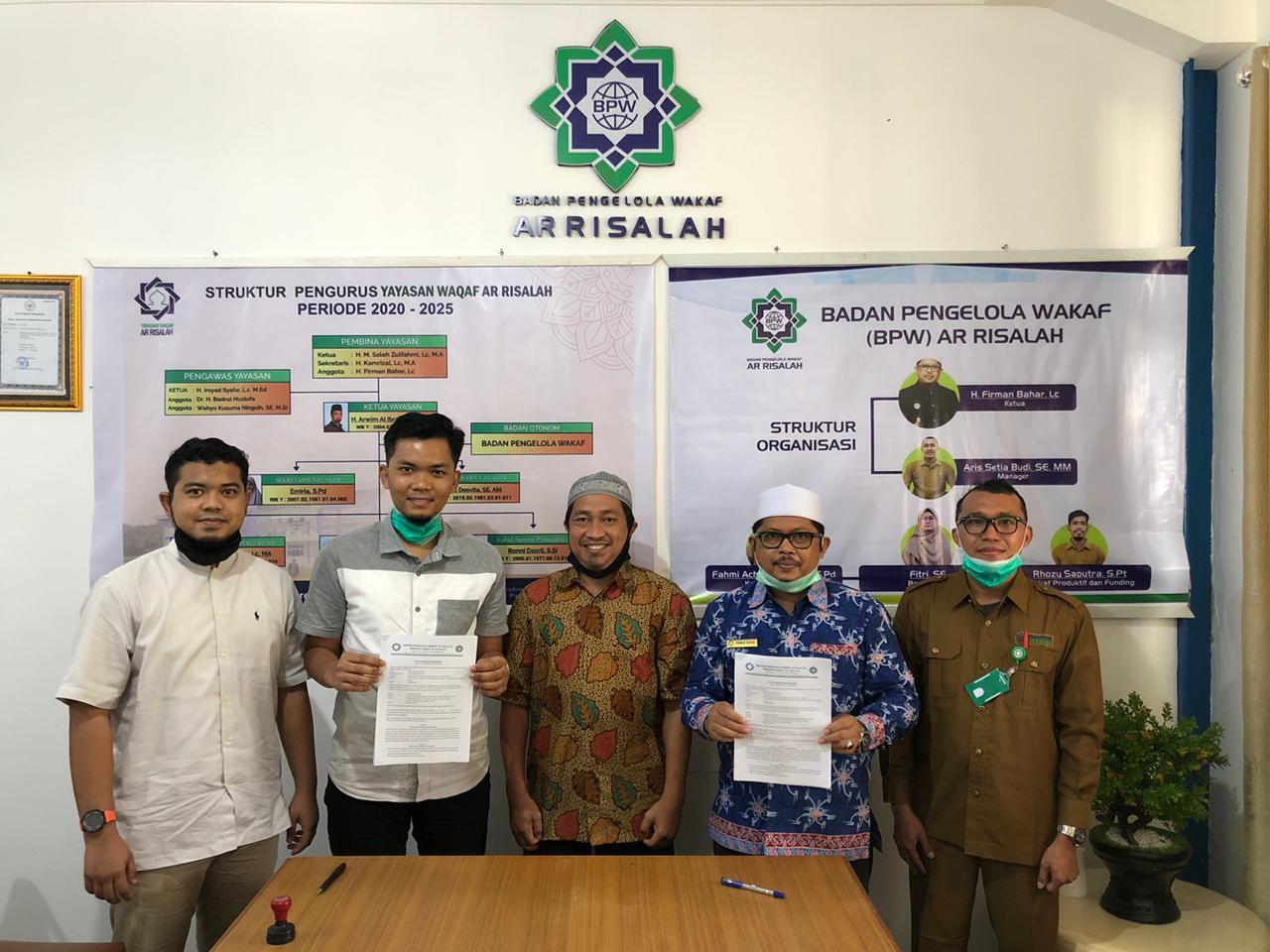 Kembangkan Wakaf Produktif, BPW Ar Risalah Teken MoU Dengan Rajawali Group