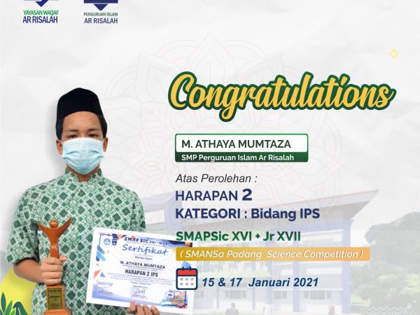 3 Siswa SMP Perguruan Islam Ar Risalah Ukir Prestasi di SMAPSiC XVI